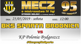 29. kolejka: Sparta vs. KP Polonia Bydgoszcz
