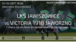 9.Kolejka V Ligi Chrzanów 2017/18. Zapraszamy na Hit kolejki do Jawiszowic 1.10.2017 godz.16:00
