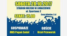 13 Kolejka : MKS Pogoń - Sokół Lubaczów - MKS Orzeł Przeworsk