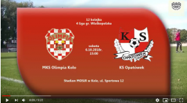SENIORZY: MKS Olimpia Koło - KS Opatówek 07.10.2018 [VIDEO]