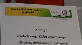 Podziękowania od Miejskiej Biblioteki Publicznej dla CKS-u.