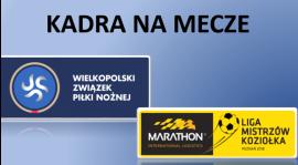 Kadra na mecze lig Koziołka i WZPN - 21/22 kwietnia 2018 r.
