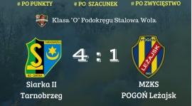Siarka II Tarnobrzeg 4-1 MZKS Pogoń Leżajsk