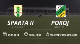 """Relacja meczu LKS """"Sparta II"""" Lubliniec vs Pokój Sadów."""