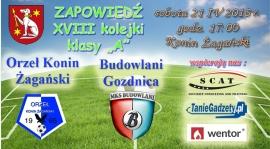 Zapraszamy na mecz OKŻ - Budowlani Gozdnica !