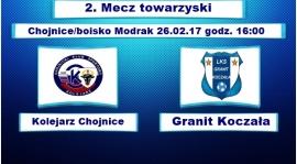Sparing nr 2. Kolejarz Chojnice - Granit Koczała