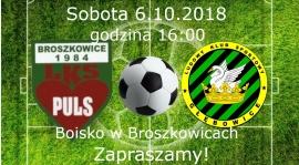 Zapraszamy na mecz do Broszkowic!