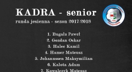 KADRA ZESPOŁU SENIORA W RUNDZIE JESIENNEJ SEZONU 2017/2018