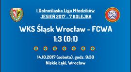 I DLM: 7 kolejka - WKS Śląsk Wrocław - FCWA (14.10.2017)