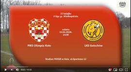 SENIORZY: MKS Olimpia Koło - LKS Gołuchów 16.03.2019 [VIDEO]