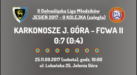 II DLM - 9 kolejka (zaległa): Karkonosze Jelenia Góra - FCWA II (25.11.2017)