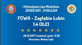I DLM 9 kolejka: FCWA - Zagłębie Lubin (28.10.2017)