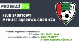 Przekaż 1% podatku na Akademię KS Mydlice!