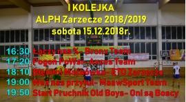 Kolejka Inaugurująca Rozgrywki VII Edycji Amatorskiej Ligi Piłki Halowej w Zarzeczu.