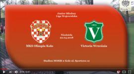 ROCZNIK 2001/2002: MKS Olimpia Koło - Victoria Września 22.04.2018 [VIDEO]