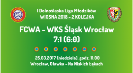 I DLM wiosna 2018 - 2 kolejka (25.03.2018): FCWA - WKS Śląsk Wrocław