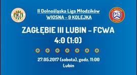 II DLM wiosna 2017 - 9 kolejka - Zagłębie III Lubin (27.05.2017)