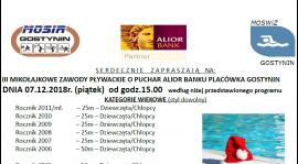 III Mikołajkowe Zawody Pływackie o Puchar Alior Banku Placówka Gostynin