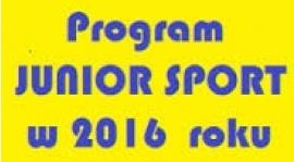 Program JUNIOR SPORT 2016
