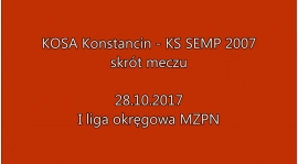Skrót meczu Kosa Konstancin vs SEMP Warszawa 3:6