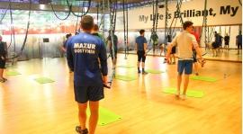 Profesjonalny trening siłowy Mazura w siłowni Galerii Mazovia
