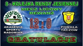 Zdecydowane zwycięstwo AS Radomiaka 2007 w rundzie rewanżowej