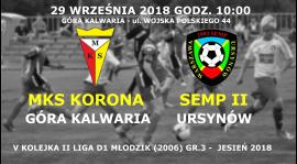 Powołania na V-tą kolejkę II ligi MZPN (jesień 2018)