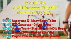 IV Kolejka- niedziela 30.12.2018