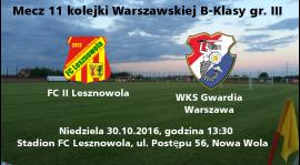 Kadra na mecz z FC II Lesznowola