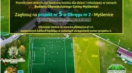 Zagłosuj na dokończenie ogólnodostępnego boiska do piłki nożnej w Budżecie Obywatelskim!