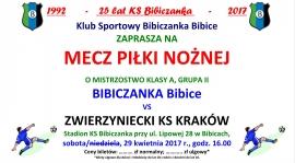 ZAPROSZENIE NA MECZ: Bibiczanka - Zwierzyniecki KS Kraków