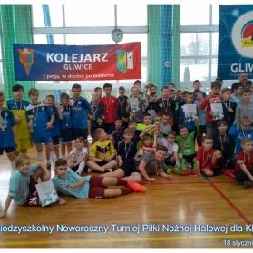 Noworoczny Miedzyszkolny Turniej Piłki Nożnej Halowej dla klas V