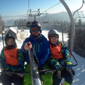 Podhalanin na nartach
