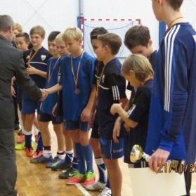 Wojewódzki etap zawodów w halowej piłce nożnej chłopców