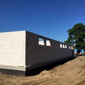 Budowa budynku klubowego - czerwiec 2017
