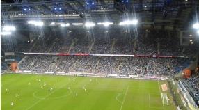 Adepci na meczu Lech-Górnik