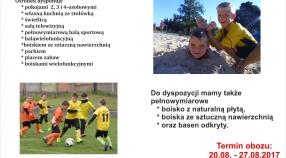 Obóz Kępno 2017 - zapisy