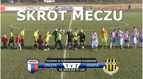 VIDEO: Skrót meczu Orlęta 1:2 Sparta Brodnica
