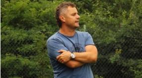 Emanuel Chudyba i Piotr Wątorski po meczu Krępianka - Polonia