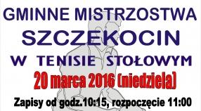 Gminne Mistrzostwa Szczekocin w Tenisie Stołowym