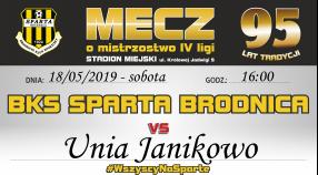 28 kolejka: Sparta vs. Unia Janikowo