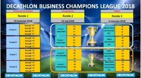 "Planowany harmonogram turnieju  ""DECATHLON Business Champions League 2018"""
