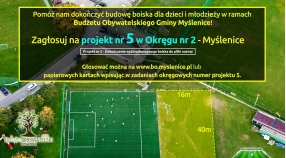 Ważna sprawa - zagłosuj na dokończenie boiska w Budżecie Obywatelskim