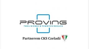 Firma Proving będzie wspierała CKS Czeladź
