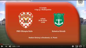 SENIORZY: MKS Olimpia Koło - Kotwica Kórnik 29.09.2018 [VIDEO]