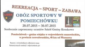 Zapraszamy do udziału w Obozie  Sportowo - Rekreacyjnym