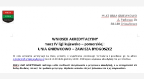 Wnioski akredytacyjne na mecz Unia - Zawisza