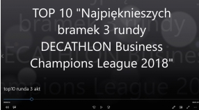 """TOP10 Najpiękniejszych bramek 3 rundy DECATHLON Business Champions League 2018"" - VIDEO"