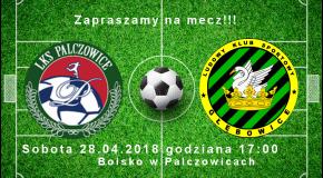 Zapraszamy na mecz do Palczowic!