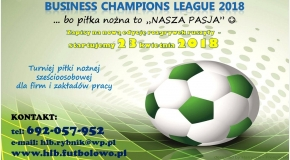 """DECATHLON Business Champions League 2018""... już wkrótce startujemy :-)"